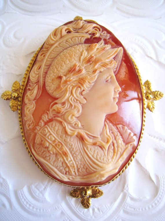 Museum Quality Italy Huge Real Shell Cameo Pendant Antique Silver 18K Gold Pin Greek Goddess: Huge Real, Antiques Silver, Museums Quality, Gold Pin, Greek Goddesses, Cameo Pendants, Pendants Antique, Italy Huge, 18K Gold