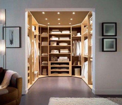32 Hermosos y lujosos diseños en cuartos del armario | Decorando.info