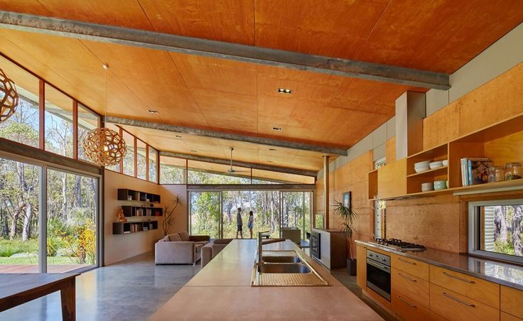Bush House by Archterra Architects - Skillion roof, rammed earth walls