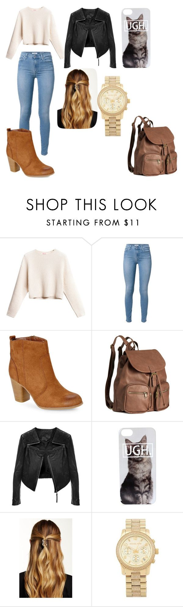 """casual day"" by yumenaisenpai on Polyvore featuring Madden Girl, H&M, Linea Pelle, Natasha Accessories and Michael Kors"