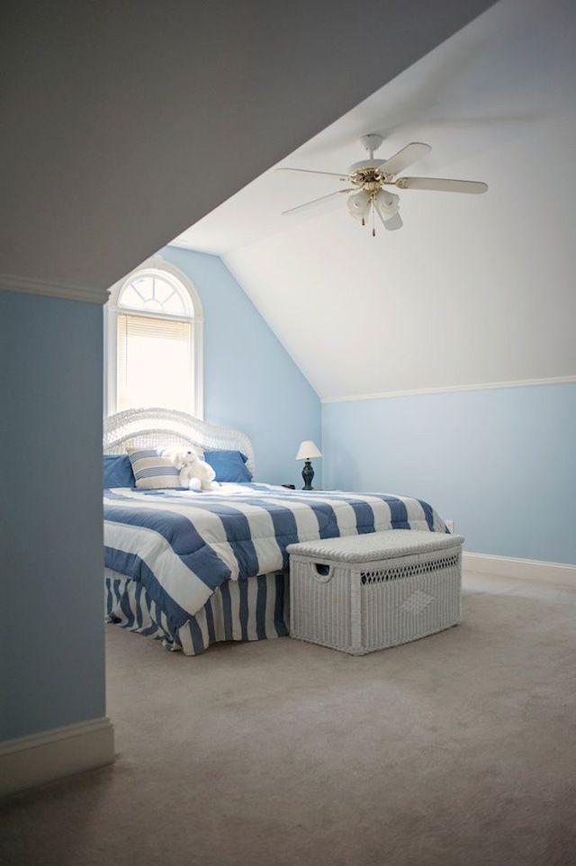 welcoming attic guest bedroom decorative bedroom colour schemes pinterest blue wall. Black Bedroom Furniture Sets. Home Design Ideas