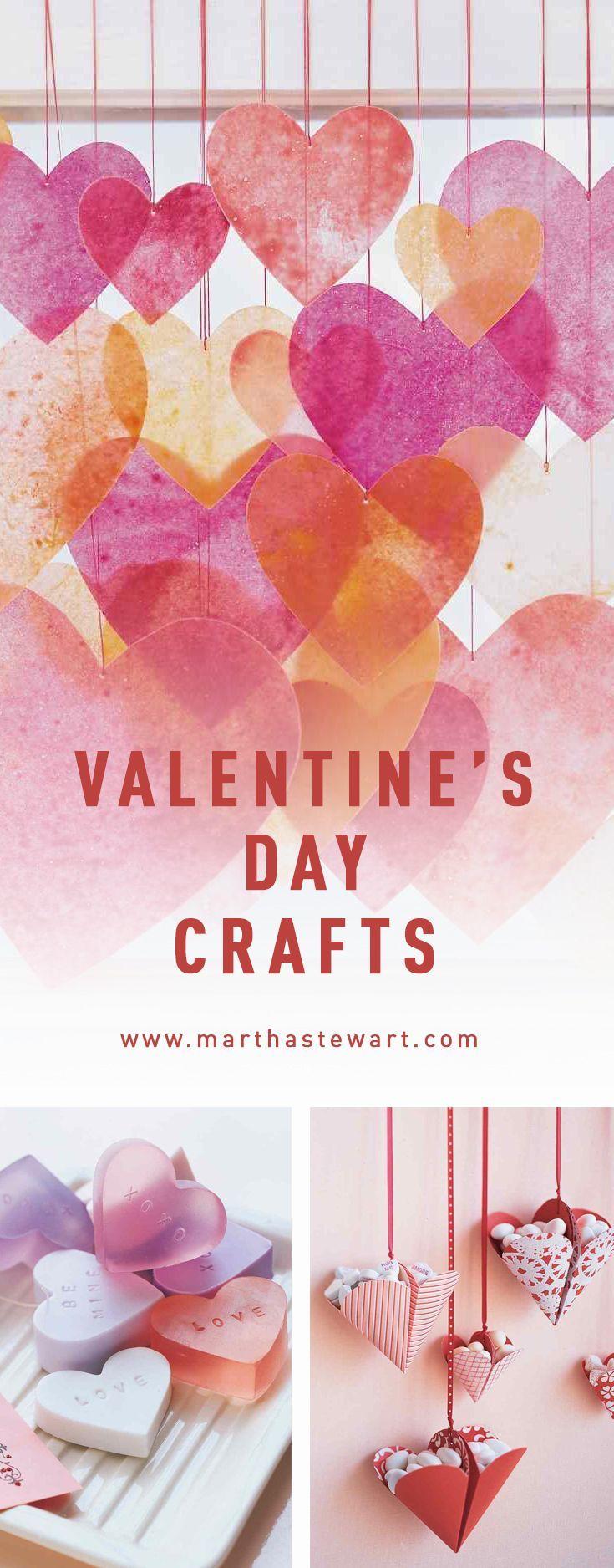 Valentine's Day Crafts | Martha Stewart Living - Show your valentine some DIY love with these heartfelt crafts.