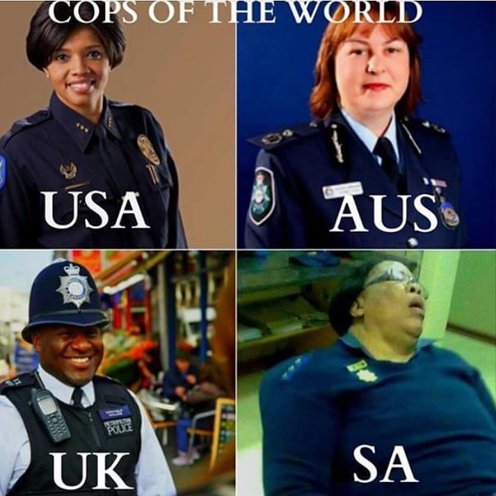 The #spietcops of the world #police #onlyinsouthafrica #shit_sa_say