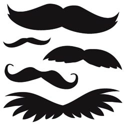 Mustaches - face paint template