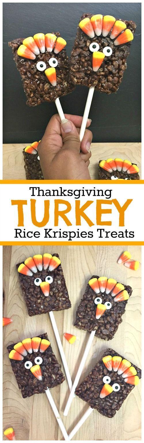 Gobble Gobble: We Made Rice Krispies Treat Turkey Pops for Thanksgiving