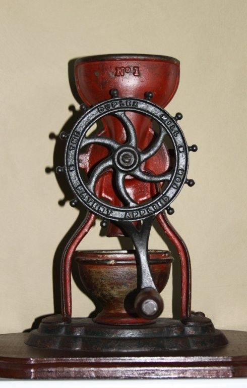 Antique coffee grinder.