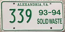 Alexandria Virginia Solid Waste