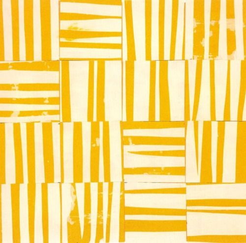"Ellsworth Kelly Study for ""Yellow White"", 1951. Collage. 29,8 x 30,2 cm."
