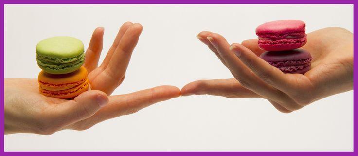 Macarons kädet