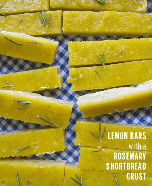 Lemon Bars with a Rosemary Crust (Take a Megabite) | Crust ...
