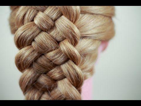 Вечерняя прическа с плетением. Плетение кос. Evening hairstyle with braids - YouTube