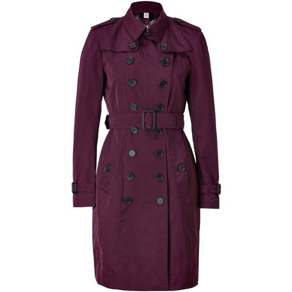 BURBERRY LONDON Boysenberry Mountbatten Trench Coat ($1,200) ❤ liked on Polyvore