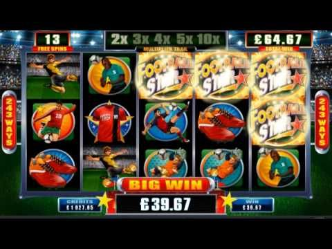 Football Star Online Slot, Go for GOAL with this Football themed slot game, released just in time for the Football World Cup 2014