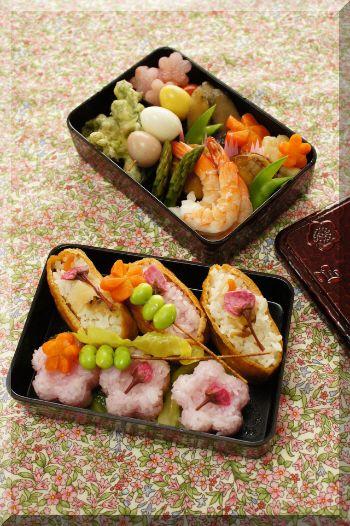 Spring Sushi Bento for Sakura Flower Viewing, by Alice お花見弁当
