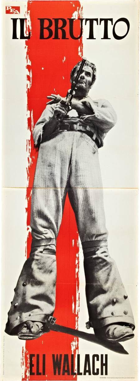 The Good The Bad & The Ugly italian movie premiere display. Sergio Leone. Eli Wallach