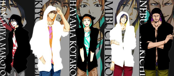 Uncrowned Kings/Pixiv Id 1181499, Kuroko no Basuke, Hanamiya Makoto, Nebuya Eikichi, Kiyoshi Teppei, Mibuchi Reo