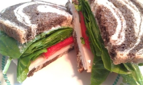 The BEST turkey sandwich and really healthy!