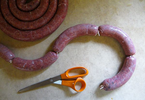 MAZZAFEGATI, ITALIAN LIVER SAUSAGE Recipe with pork liver, fresh pork fat, pork shoulder, kosher salt, pinenuts, sugar, ground coriander, garlic cloves, black pepper, sweet white wine