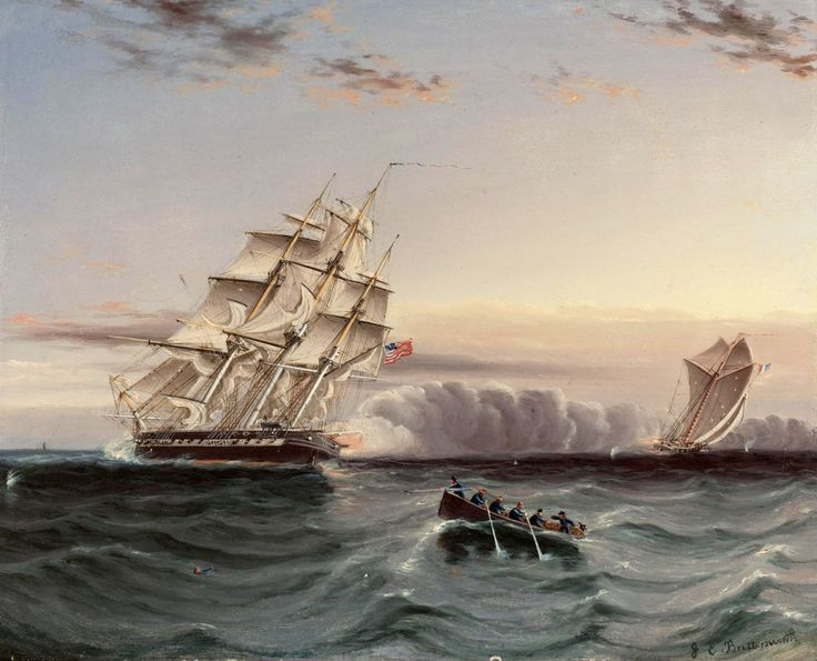 US Frigate and Privateer puzzle in Piece of Art jigsaw puzzles on TheJigsawPuzzles.com. Play full screen, enjoy Puzzle of the Day and thousands more.