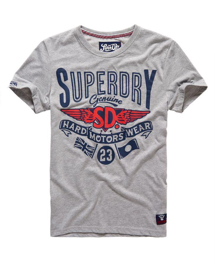 Mens - Hard Wear T-shirt in Grey Marl | Superdry
