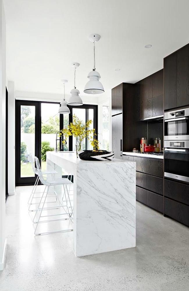 Chris and Rebecca Judd's Melbourne Home. The kitchen. Photo: Amelle Habib