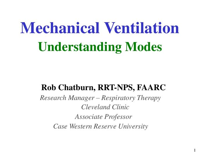 Mechanical ventilation, understanding modes. by ceswyn via slideshare