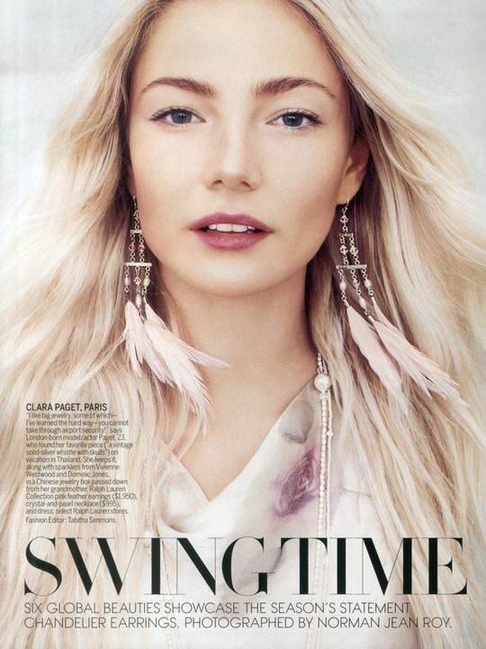 Next / Los Angeles / Clara Paget - Love the make-up/lip color