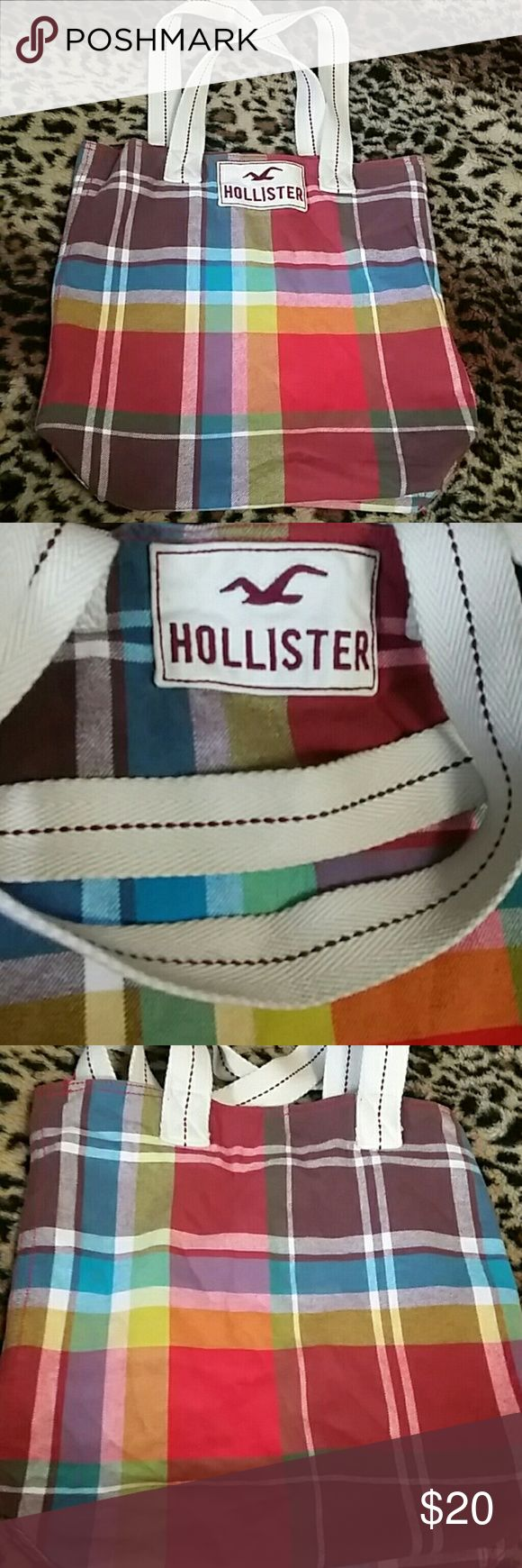 Hollister Tote Bag Really great condition. Soft material with plain design. Hollister Bags Totes
