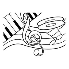 Top 10 Free Printable Music Notes Coloring Pages Online 2nd Grade