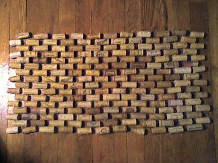 Wine Cork Door Mat