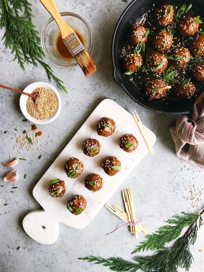 Hoisin Glazed Vegan Meatballs