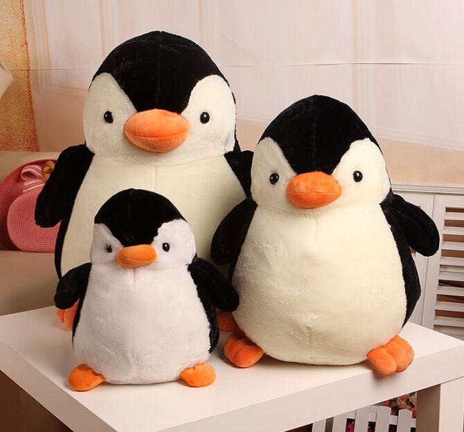 30CM Large Cute cartoon stuffed animal penguin plush toys baby lovely Madagascar dolls gift doll's house  -  PRICE SHOP store