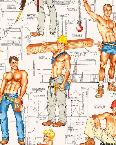 Gayest. Fabric. Ever. Heavy Equipment - Ivory