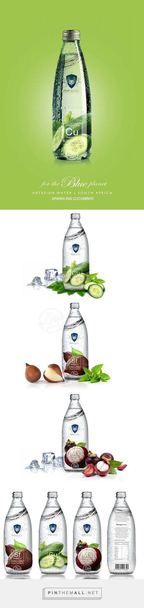 Blue Republic flavored water range by Batsirai Madzonga. Pin curated by #SFields99 #packaging #design