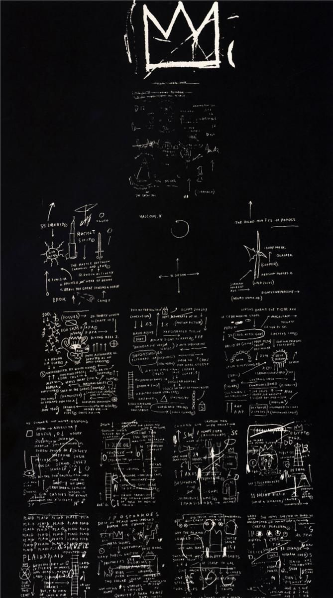 grumble-grumble:  Tuxedo, Jean-Michel Basquiat. 1982
