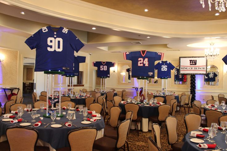 17 best images about bar mitzvah on pinterest bar for Athletic banquet decoration ideas