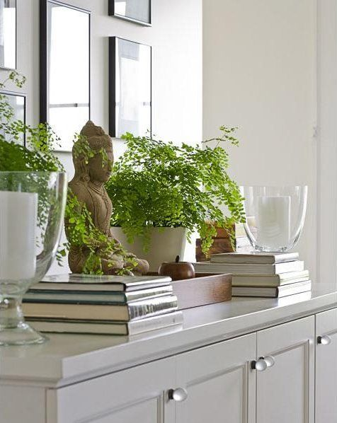 Calming decor for the main entry, excellent feng shui! See more feng shui decor tips at http://FengShui.About.com