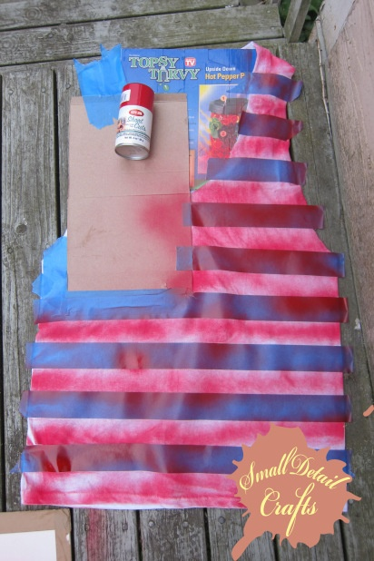 DIY 4th of July Spray Paint Tank. Alex spray painted a shirt for school, it looks better than tie dye!