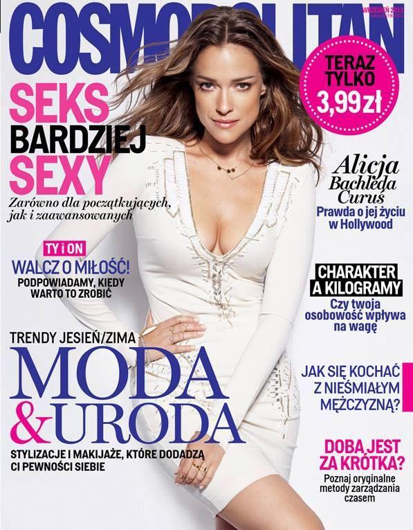 COSMOPOLITAN edycja polska / Alicja Bachleda-Curuś / wrzesień 2013    www.cosmopolitan.pl