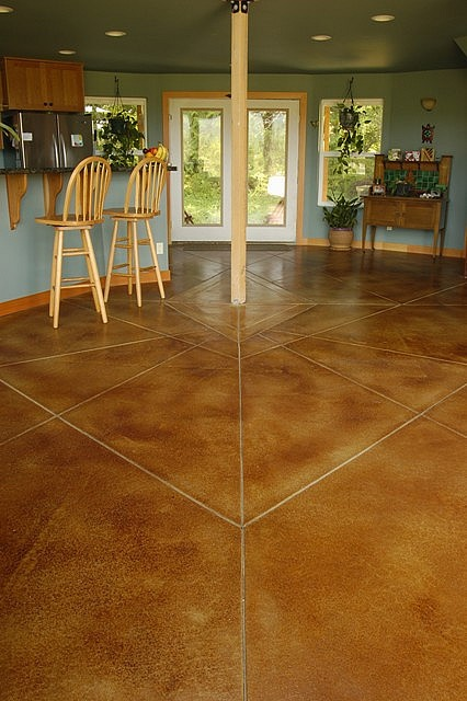 Yurt Concrete Floor Patio Gardening And Landscape