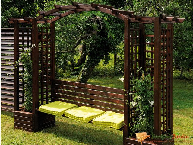 17 Best images about Pergola on Pinterest  Gardens  ~ Pergola Bois Double Arc