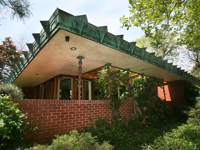 John E. Christian House/ Samara. 1954. West Lafayette, Indiana. Usonian Style. Frank Lloyd Wright.