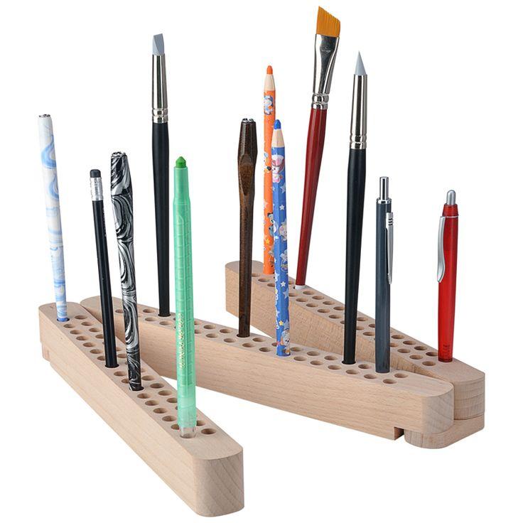 Stifte- und Pinselhalter aus Holz, klappbar