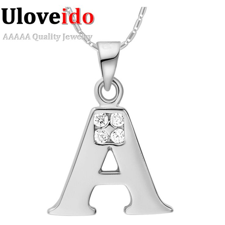 Find More Pendant Necklaces Information about Letter A B C D E F G H I J K L M N O P Q I S T U V W X Y Z Silver Pendant Necklace with Chain Crystal Valentine's Day Gift Ulove,High Quality gift egg,China gift vip Suppliers, Cheap necklac from ULOVE Fashion Jewelry on Aliexpress.com
