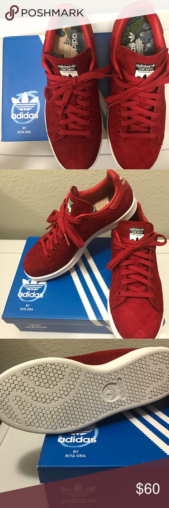 """Adidas by Rita Ora """"Geisha"""" Stan Smith Pre-owned ADIDAS ORIGINAL RITA ORA """"GEISHA"""" STAN SMITH.   Looks brand new comes in box.  Color: Red  Size: 7.5W Adidas Shoes Sneakers"""