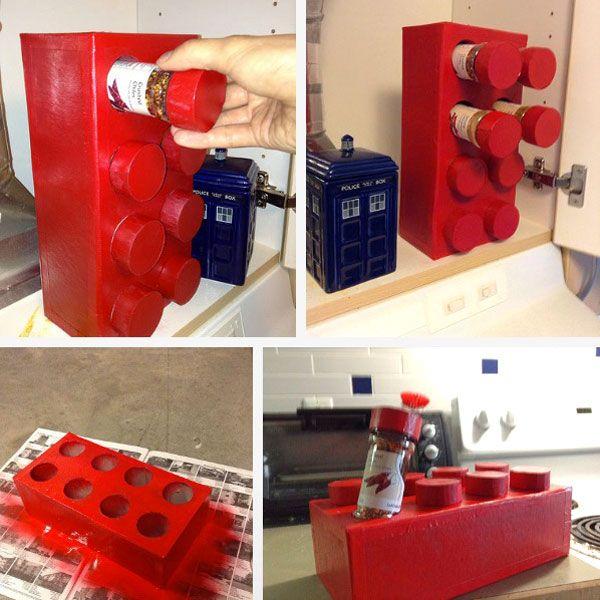 LEGO Spice Racks... DIY ! Love this idea. Wantwantwant