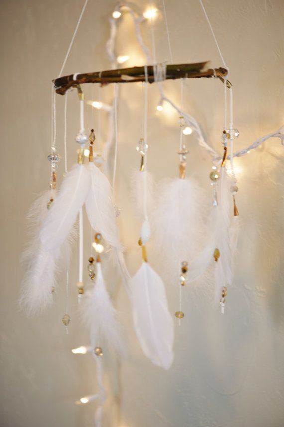 Would love this above our future baby's crib :)   Wedding Dreamcatcher/Dreamcatcher Mobile on Etsy, $98.00