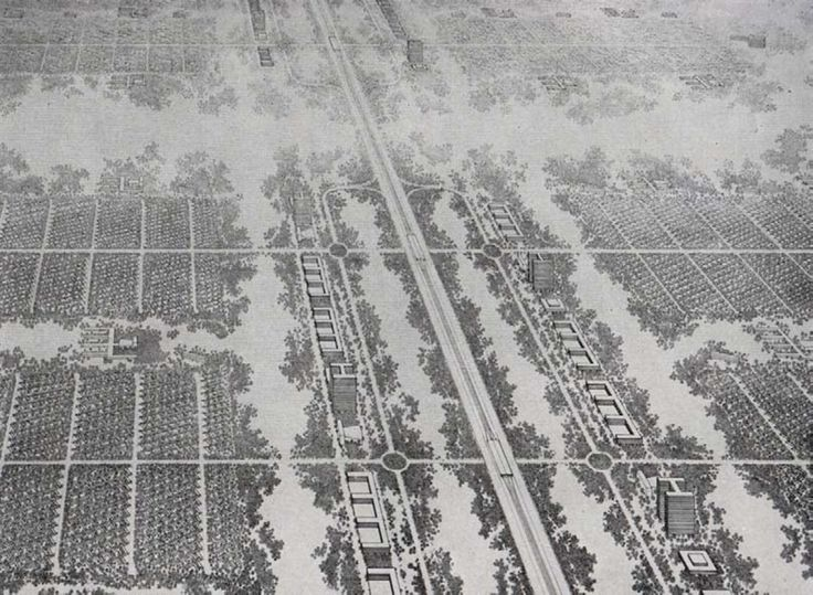 Ludwig Karl Hilberseimer, Descentralized City, 1944