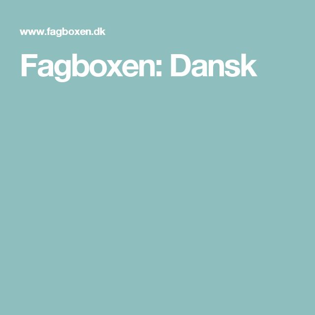 Fagboxen: Dansk