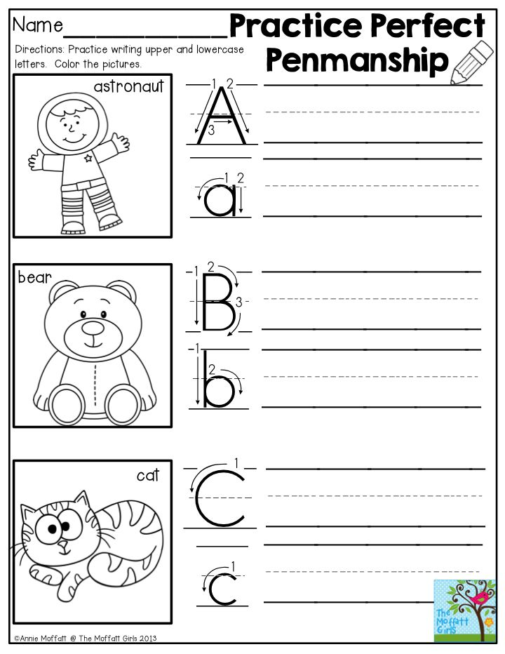How to help kindergartener with handwriting